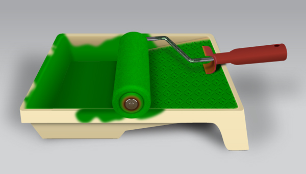 Create a Paint Roller and Tray in Adobe Illustrator