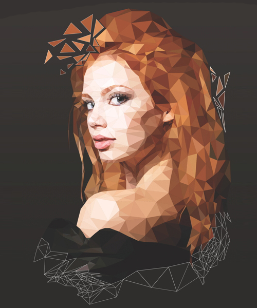 Create a Low-poly Illustration in Photoshop Tutorial