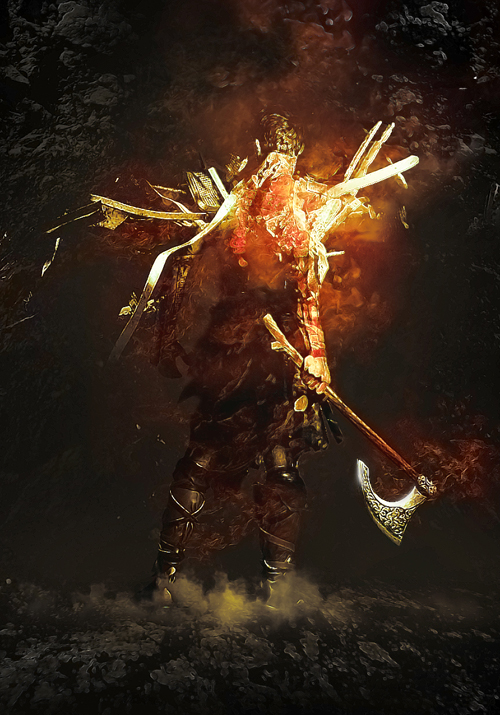 Amazing Photo Manipulation of a Barbarian Warrior in Photoshop