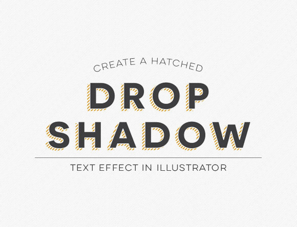 Create a Hatched Drop Shadow Text Effect in Illustrator
