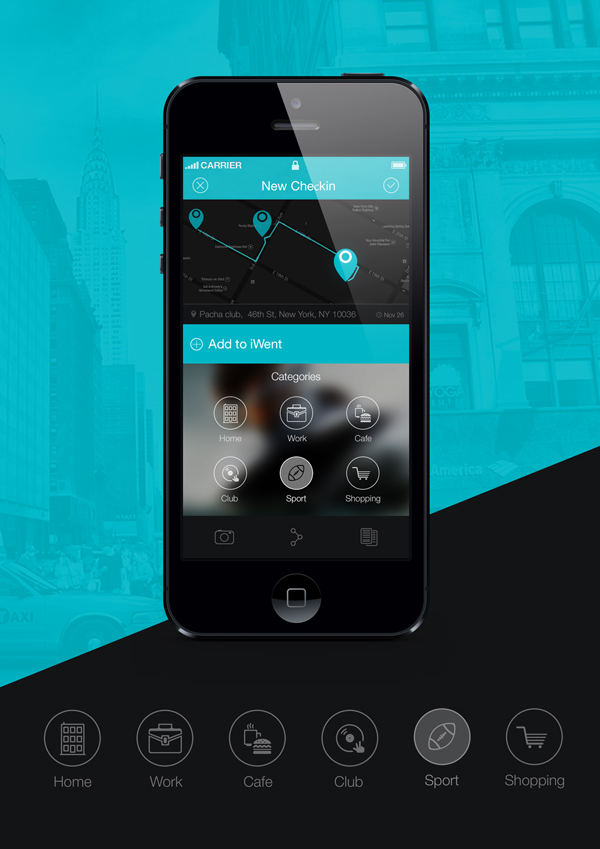 Light and clean mobile app design by UXpresso
