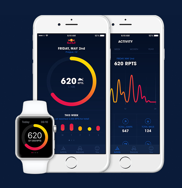 Red Points App UI Design by Ales Nesetril