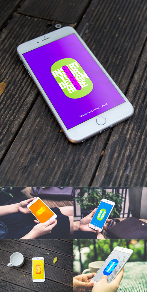 Free iPhone 6 PSD MockUps Template