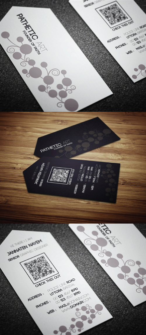 Black & White Combo Business Card
