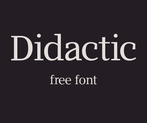 Didactic Free Font