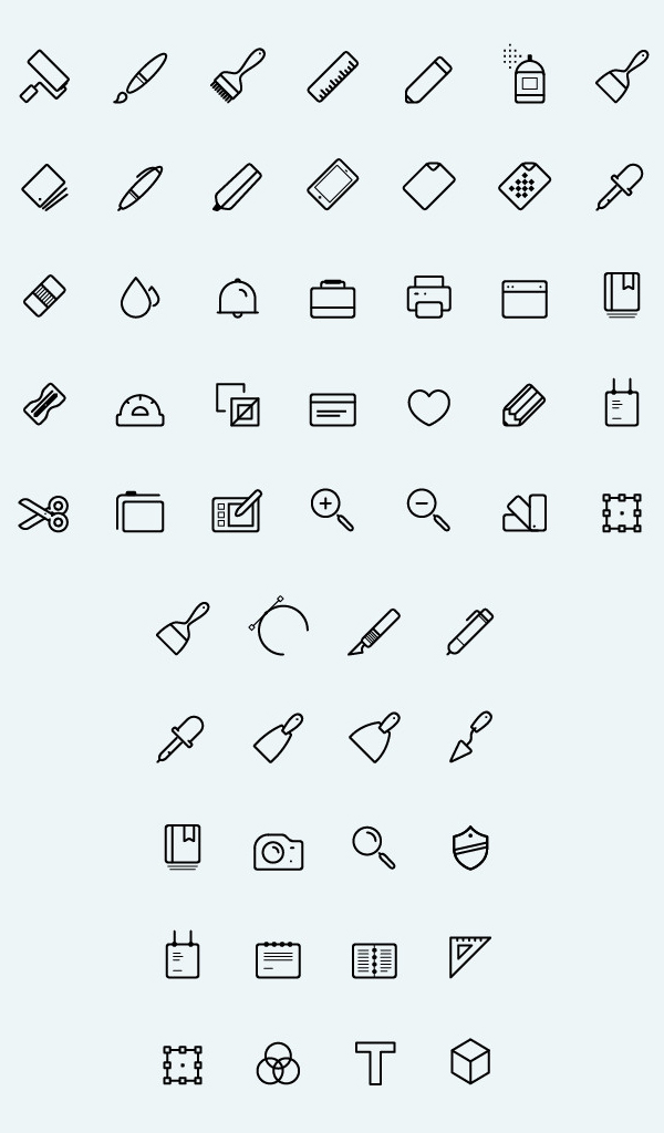 Free Line Vector Art Icons (50 Icons)