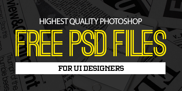 27 New Photoshop Free PSD Files for Designers