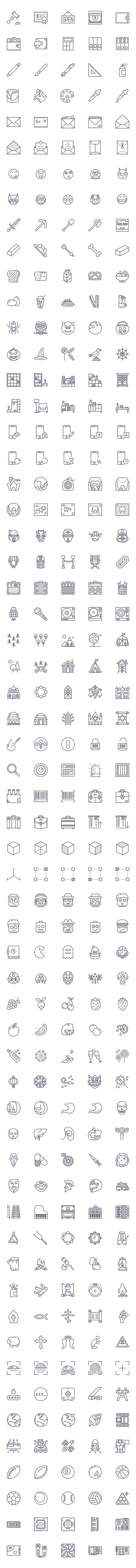 Free Outline and Solid Icons - AI, PSD and Sketch (300 Icons)