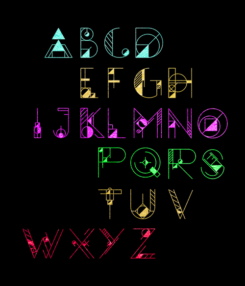 GEOM Font - Letters