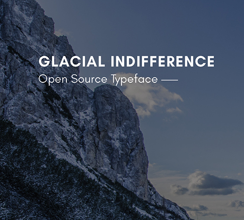 Glacial Indifference Free Font