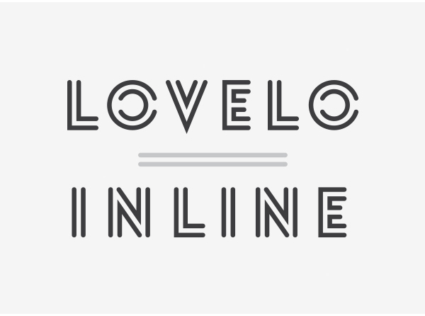 Lovelo Inline Free Font for Designers