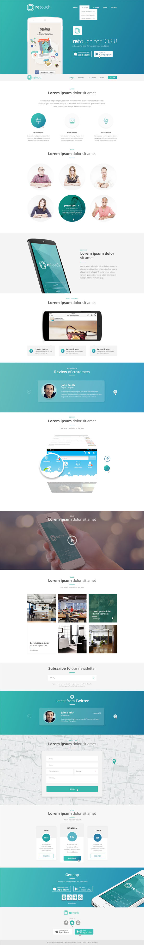 ReTouch - App HTML Template