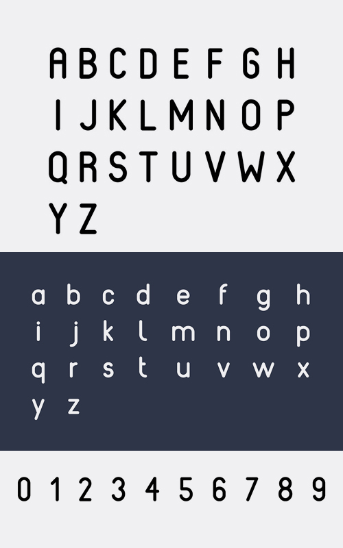 Reef rounded font letters and numbers
