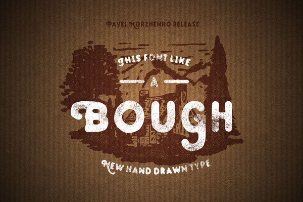 Bough – Vintage Hand Drawn Typeface