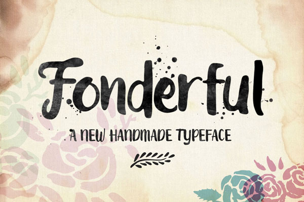 Fonderful is a hand-painted typeface