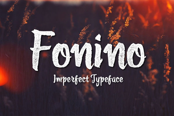 Fonino is based on handdrawn typeface