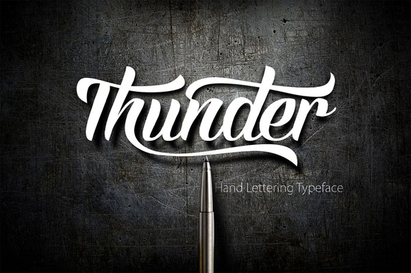 Thunder is a beautiful hand typeface that comes with a set of Beautiful extras