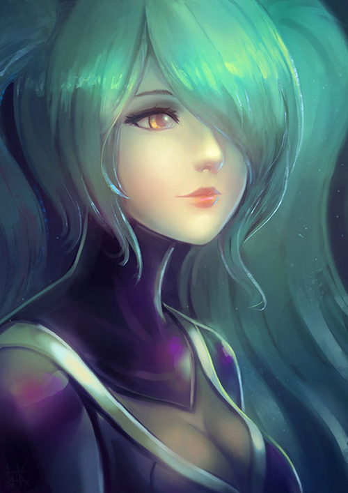 DJ Sona Kinetic Portrait by Cubehero