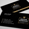 Post thumbnail of Free Vintage Black Business Card PSD Template