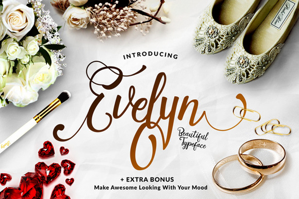 Evelyn is elegant and another lovely modern calligraphy typefaces