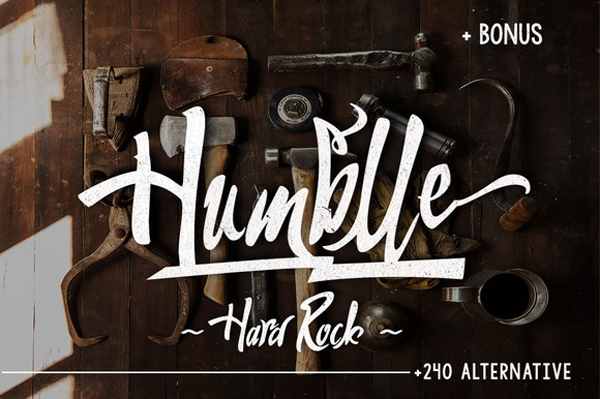 Humblle inspired by handwritten letters