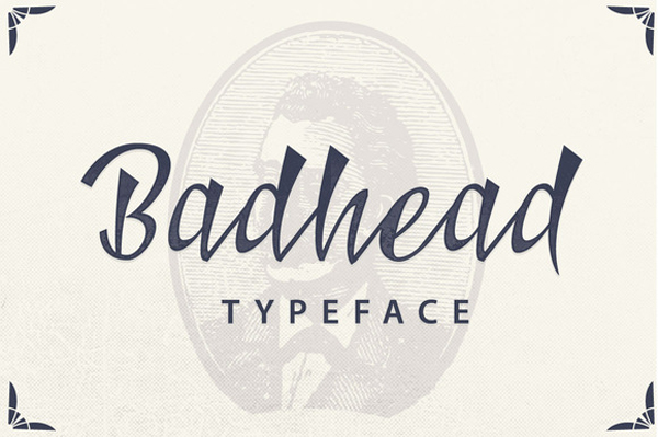 Badhead Typeface is suitable for Apparel Brand, any greeting cards, Logotype