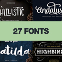 Post Thumbnail of 27 Vintage Fonts for Designers