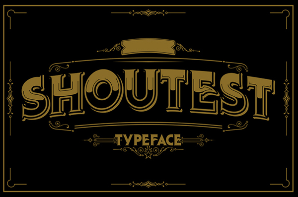 Shoutest typeface is a modern retro style typeface