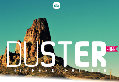 Duster Free Font