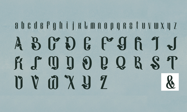 Grünwald fonts and letters