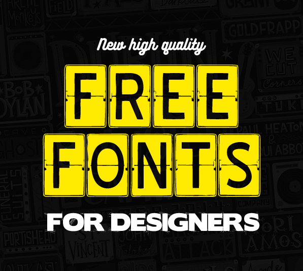 13 New Free Fonts for Designers