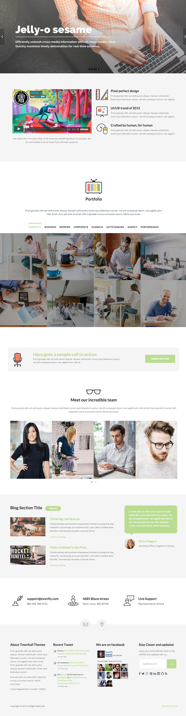 Townhall - Modern Theme for Startups and Agencies