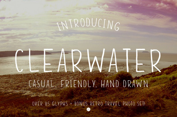Clearwater is a hand drawn font