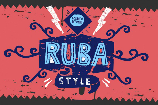 Ruba Style is a family of fonts and awesome dingbats