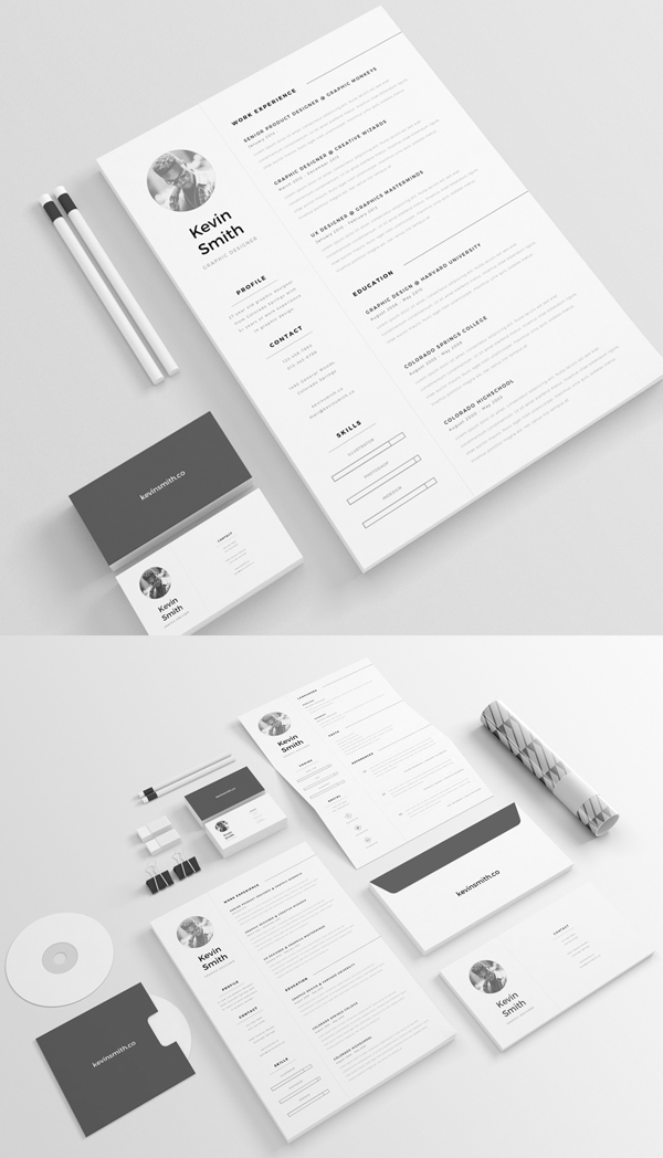 Free Minimal Resume Template by Mats-Peter Forss
