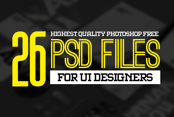 26 New Photoshop Free PSD Files for UI Design