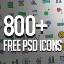 Post thumbnail of Free PSD Icons: 800+ Icons for Designers