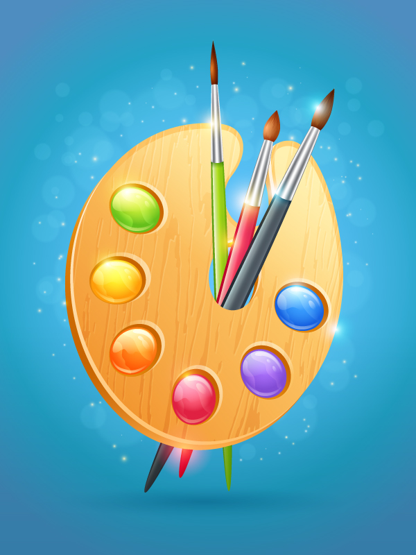 Create a Colorful Wooden Artist's Palette in Adobe Illustrator