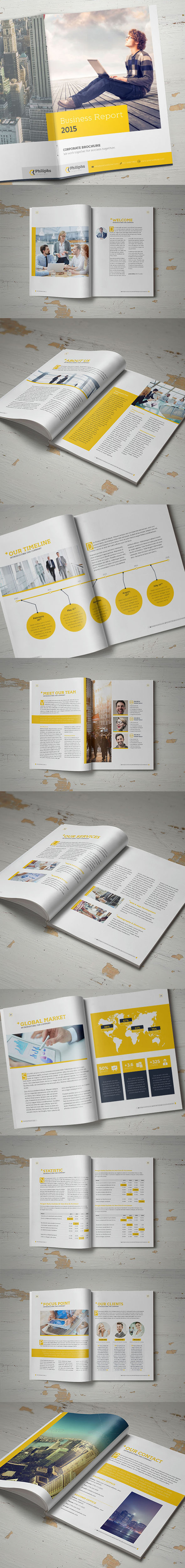 Business Annual Report Brochure Template
