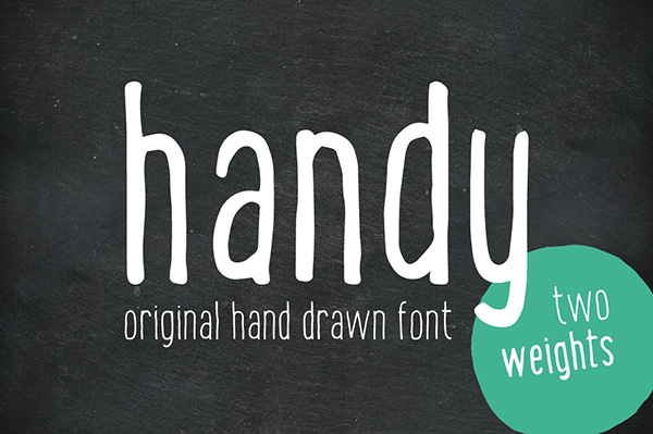Nice and handy typeface! Behold this original handwritten sans-serif font