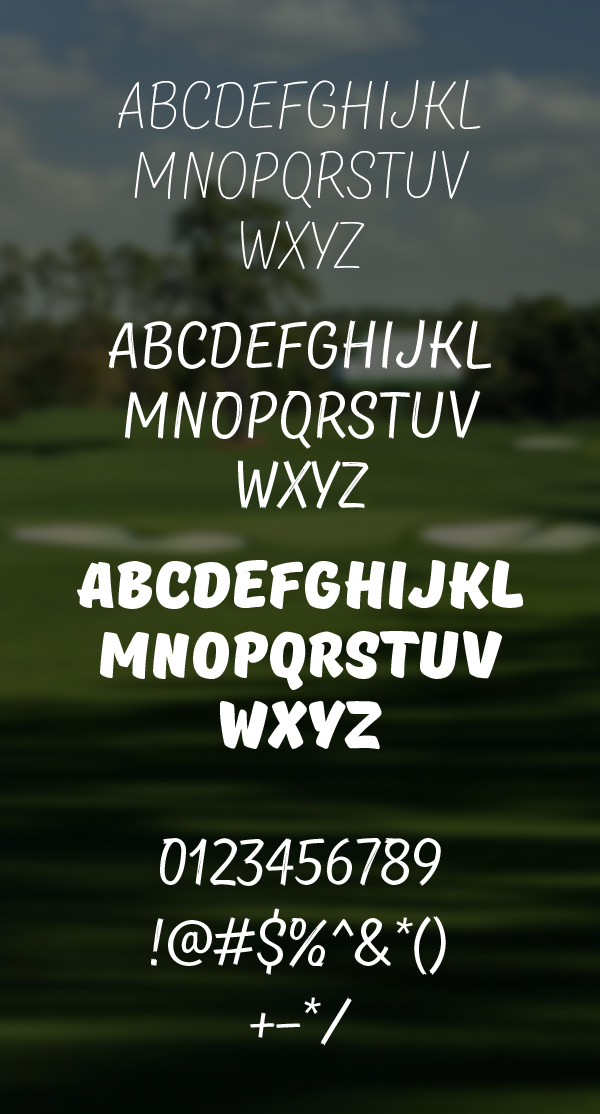 Masters font letters