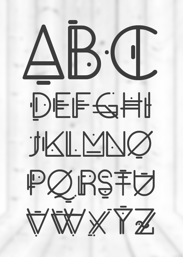 Oko rounded font letters and numbers