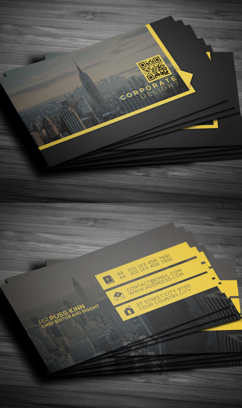 Flat Corporate Delight Business Card