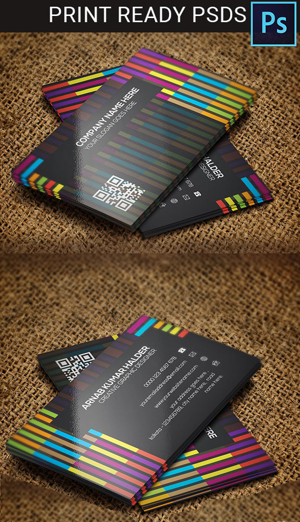 Colorful Line Style Business Card