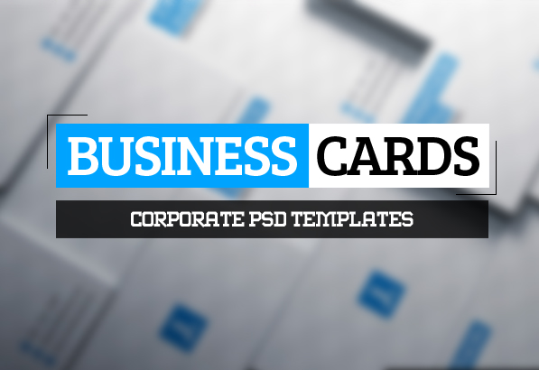 25 New Corporate Business Card PSD Templates