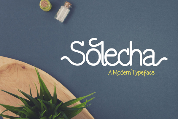 Solecha Rough is a monoline typeface with a customible style