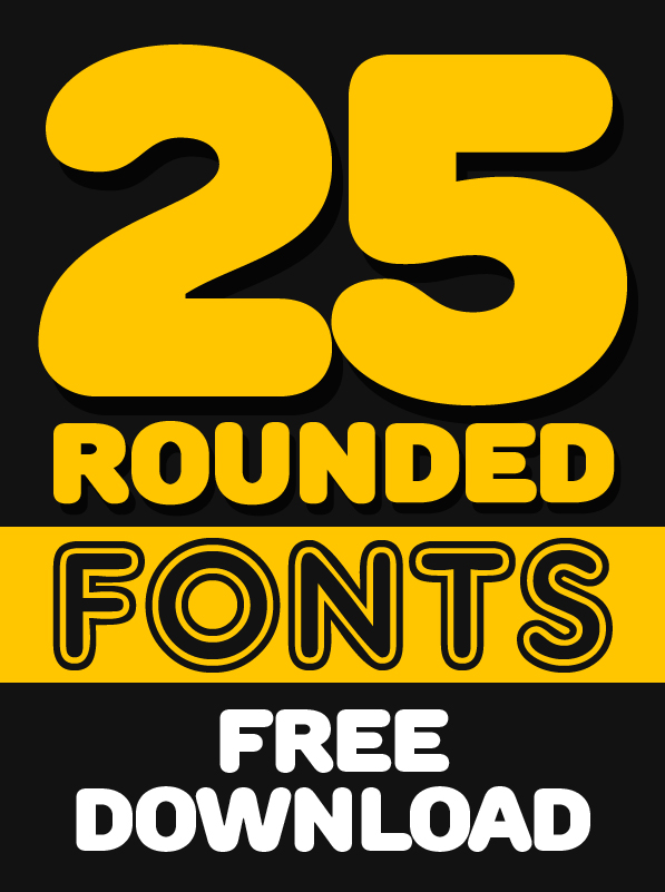 25 Free Rounded Fonts for Designers