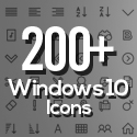 Post Thumbnail of 200+ Windows 10 Icons - Free Download