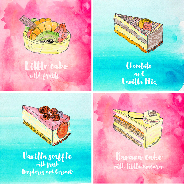 Free Hand drawn Vector Pastry Illustration
