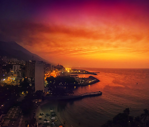 Beautiful Sunsets La Guaira Landscape photography